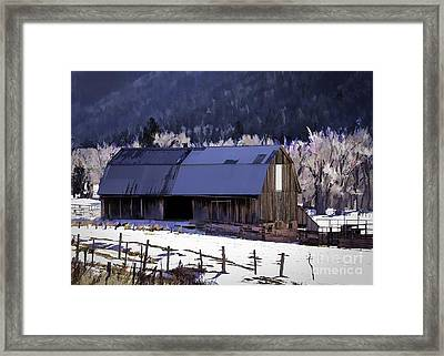 Dolores Colorado Barn Framed Print by Janice Rae Pariza
