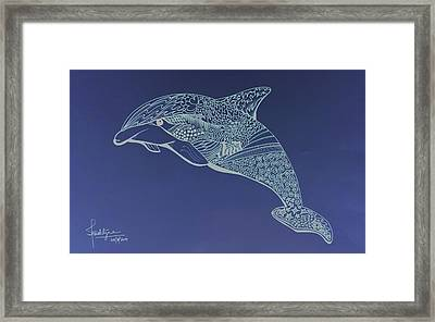 Dolphin Framed Print by Debbie McIntyre