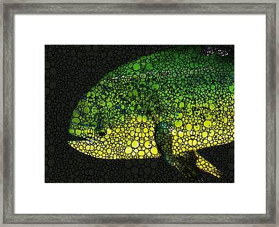 Dolphin Fish Art By Sharon Cummings Framed Print by Sharon Cummings