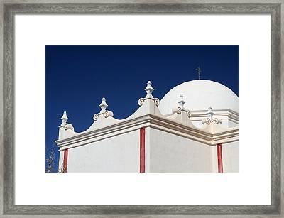 Dome At The Mission Framed Print by Joe Kozlowski