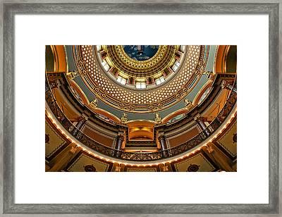 Dome Designs - Iowa Capitol Framed Print by Nikolyn McDonald