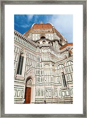 Dome Of Brunelleschi, Cathedral, Unesco Framed Print by Nico Tondini