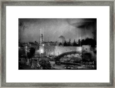 Dome Of The Rock In Israel - Abstract Version Framed Print by Doc Braham