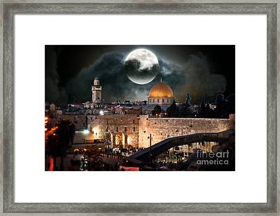 Temple Mount In Israel - Series IIi Framed Print by Doc Braham