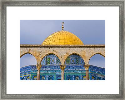 Dome Of The Rock Framed Print by Kobby Dagan
