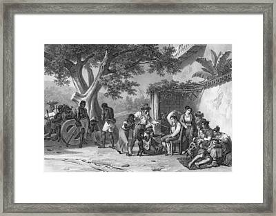 Domestic Chastisements, Engraved Framed Print by Johann Moritz Rugendas