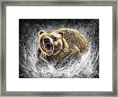 Dominance Framed Print by Teshia Art