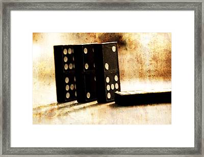 Dominoes And Games Framed Print by Dan Sproul
