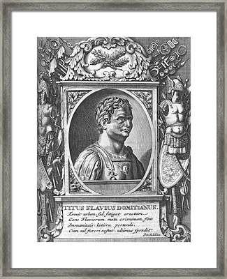 Domitian, Roman Emperor Framed Print by Science Photo Library