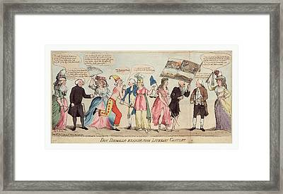 Don Dismallo Running The Literary Gantlet Framed Print by Litz Collection