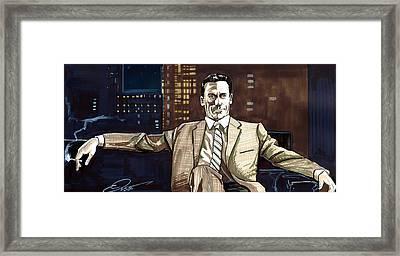 Don Draper Framed Print by Dave Olsen