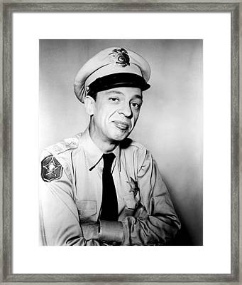 Don Knotts In The Andy Griffith Show  Framed Print by Silver Screen