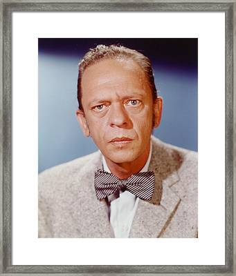 Don Knotts Framed Print by Silver Screen