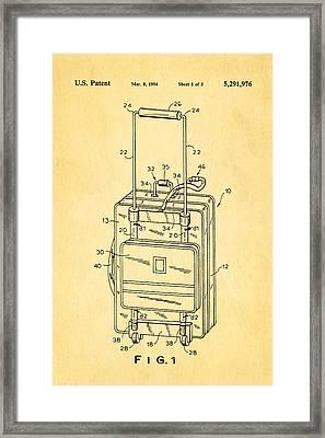 Don Ku Wheeled Collapsible Luggage Patent Art 1994 Framed Print by Ian Monk