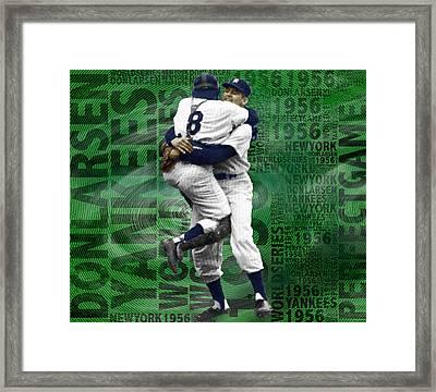 Don Larsen Yankees Perfect Game 1956 World Series  Framed Print by Tony Rubino