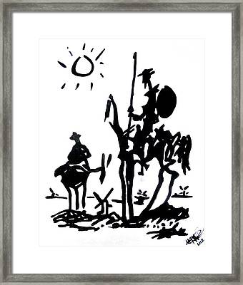 Don Quixote Framed Print by Michelle Dallocchio