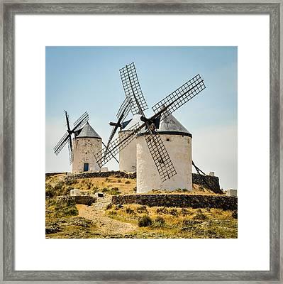 Don Quixote's Windmills Framed Print by Tetyana Kokhanets