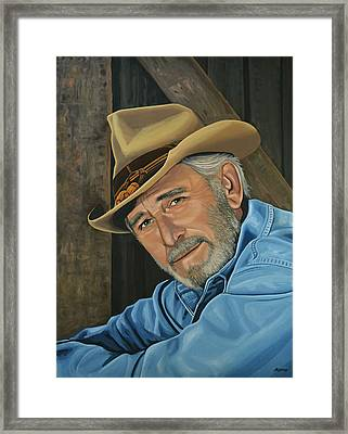 Don Williams Painting Framed Print by Paul Meijering