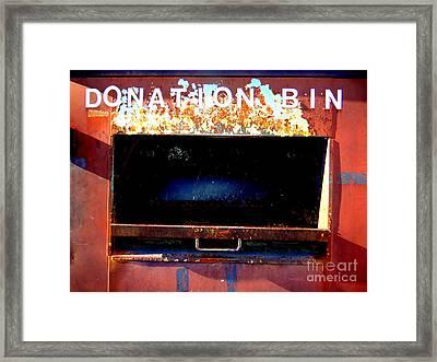 Donation Bin Framed Print by Ed Weidman