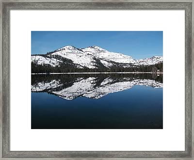 Donner Lake Morning Framed Print by Mickey Hatt