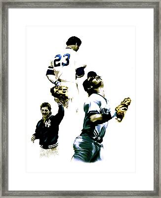 Donnie Baseball  Don Mattingly Framed Print by Iconic Images Art Gallery David Pucciarelli