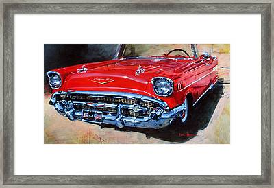Don's 57 Chevy Framed Print by Dan Nelson
