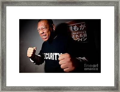 Don't Mess With Security Framed Print by Jason Weller
