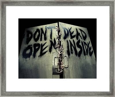 Don't Open Dead Inside Framed Print by Paul Van Scott