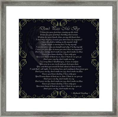 Dont Pass Me By Golden Scroll Framed Print by Movie Poster Prints