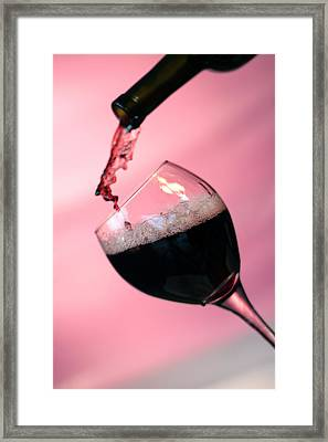 Dont Whine Over Spilled Wine Framed Print by Michael Ledray