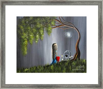 Don't Worry I Won't Let That Happen To You By Shawna Erback Framed Print by Shawna Erback