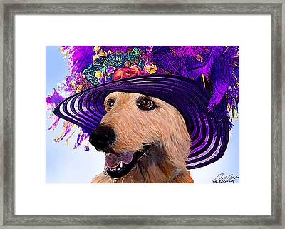Doodle To The Derby Framed Print by Michele  Avanti