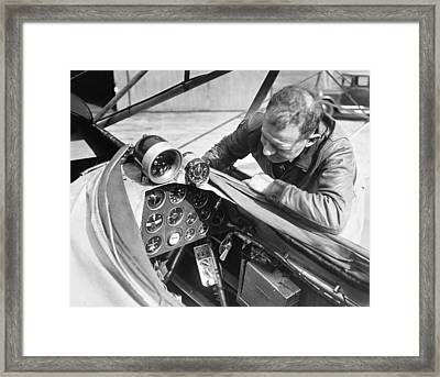 Doolitle' Blind Plane Framed Print by Underwood Archives