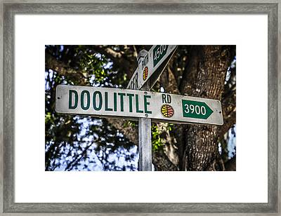 Doolittle Framed Print by Chris Smith