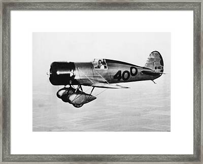 Doolittle's 400 Racer Plane Framed Print by Underwood Archives