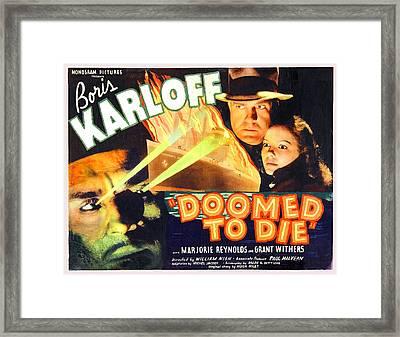 Doomed To Die Framed Print by Studio Release