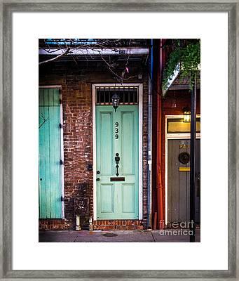 Door 939 Framed Print by Perry Webster