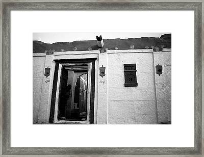Door And Alcoves Framed Print by Jagdish Agarwal