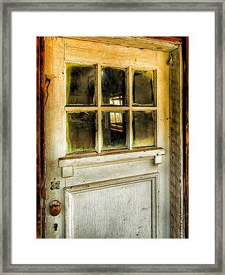 Door And Windows Framed Print by Theresa Tahara