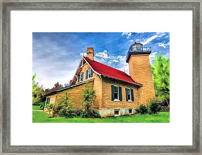 Door County Eagle Bluff Lighthouse Framed Print by Christopher Arndt