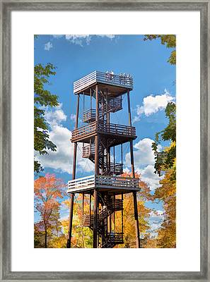 Door County Eagle Tower Peninsula State Park Framed Print by Christopher Arndt