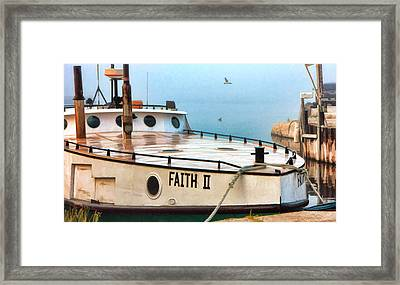 Door County Gills Rock Faith II Fishing Trawler Framed Print by Christopher Arndt