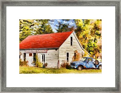 Door County Gus Klenke Garage Framed Print by Christopher Arndt
