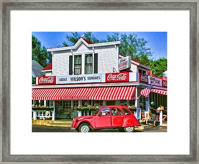 Door County Wilson's Restaurant And Ice Cream Parlor Framed Print by Christopher Arndt