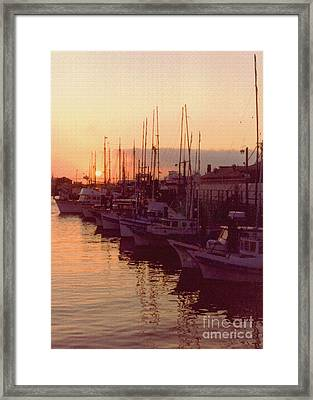 Door County Wisconsin Egg Harbor Sunset 1981 Framed Print by ImagesAsArt Photos And Graphics