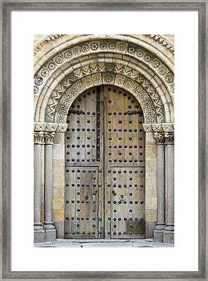 Door Framed Print by Frank Tschakert