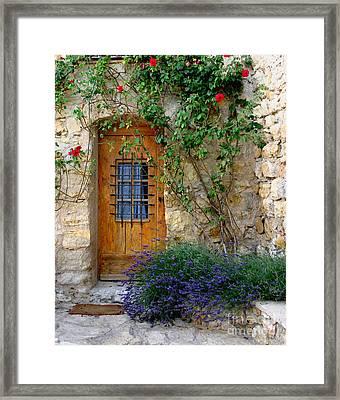 Door, Provence Framed Print by Holly C. Freeman