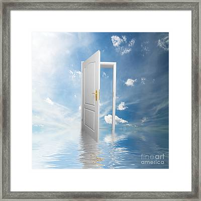 Door To Heaven  Framed Print by Michal Bednarek