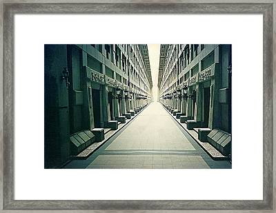 Doors And Corridor Of The Lighthouse Framed Print by Mario Perez