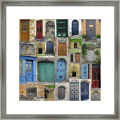 Doors In France And Belgium Framed Print by Cathy Jacobs
